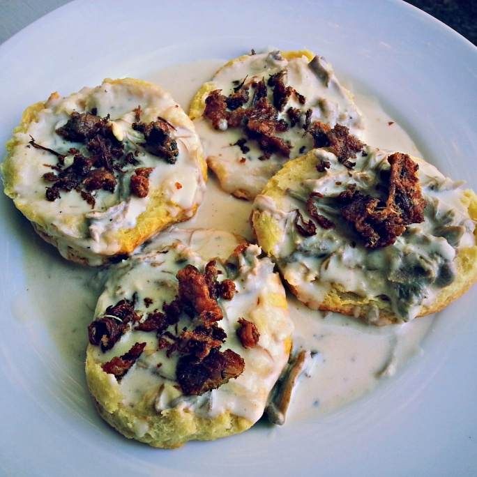 Biscuits and Duck Confit Gravy