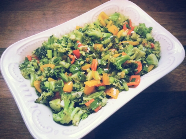 Warm Broccoli & Sweet Pepper Salad