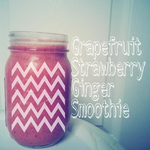 Grapefruit, Strawberry, Ginger Smoothie