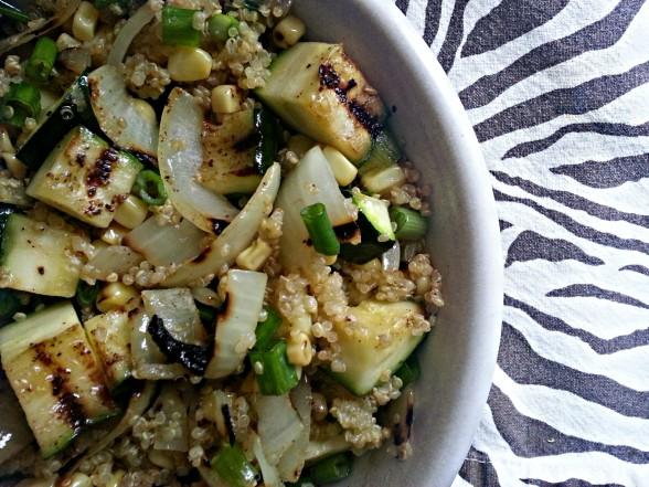 Grilled Zucchini Quinoa Salad