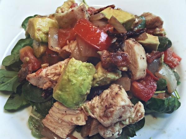 Chicken, Bacon, Avocado Salad