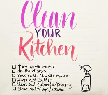 Clean Your Kitchen Checklist