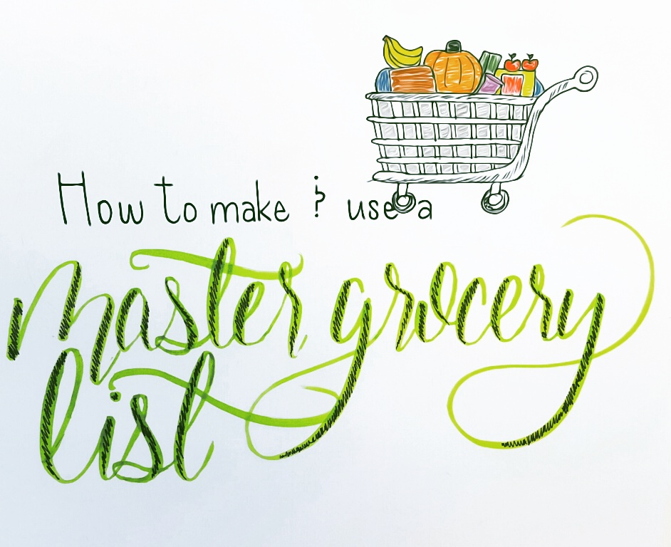 creating using a master grocery list kallie schaefer